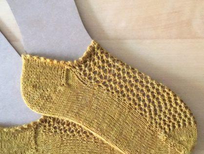 Meine ersten Toe-Up Socken {testknit}